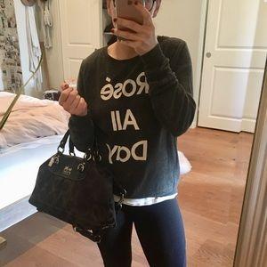 Large black coach bag